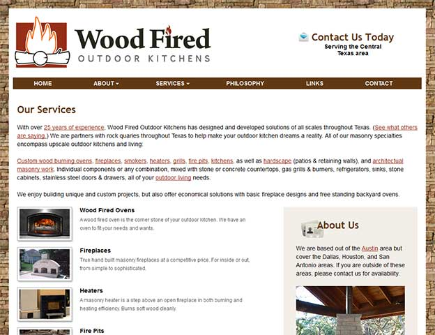 Wood Fired Outdoor Kitchens